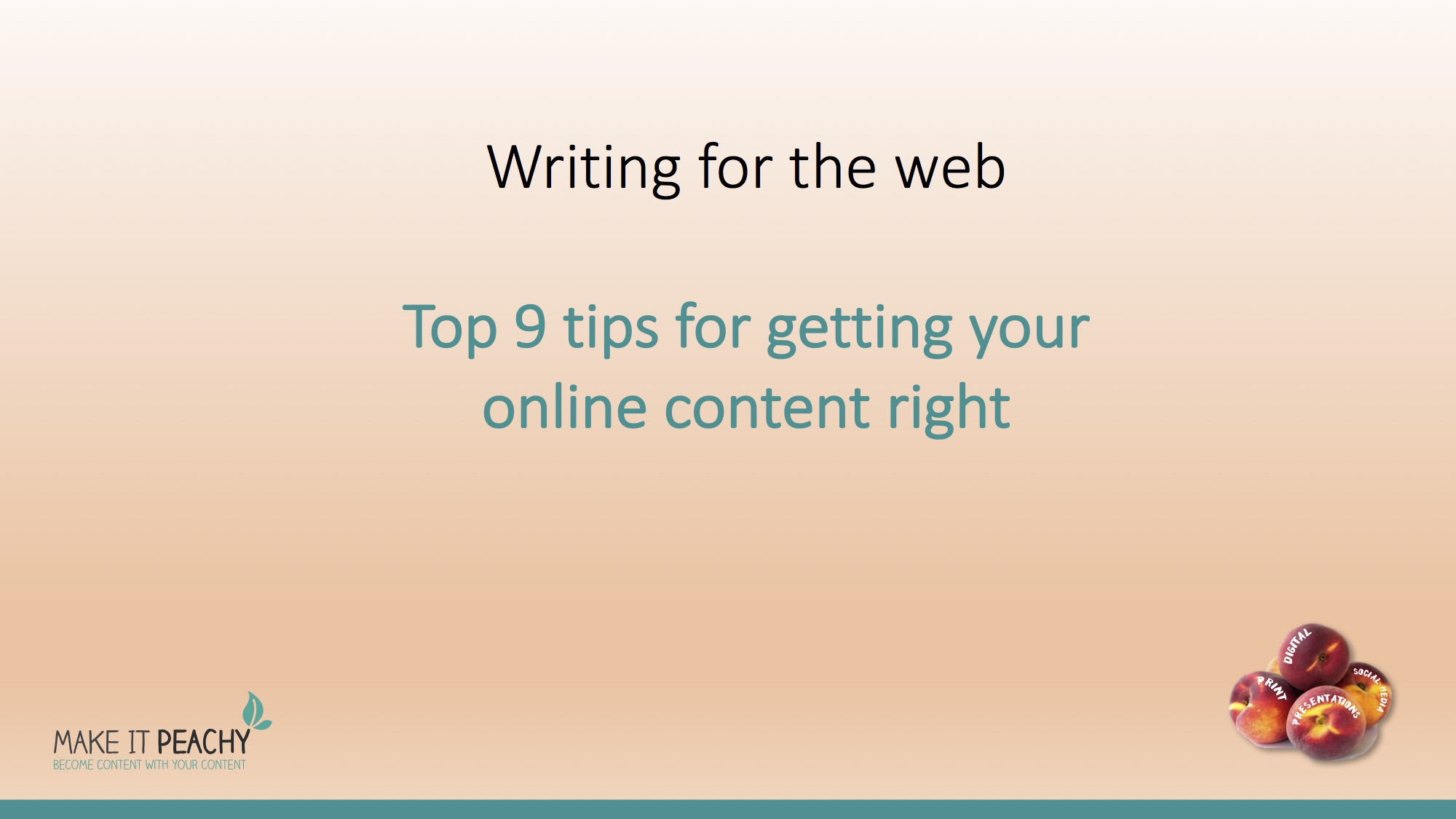 Writing Tips – create engaging content for the web